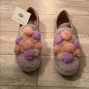 Ugg Pom Pom slip on  shoe